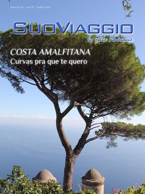 imagem da capa da revista SuoViaggio edição costa amalfitana