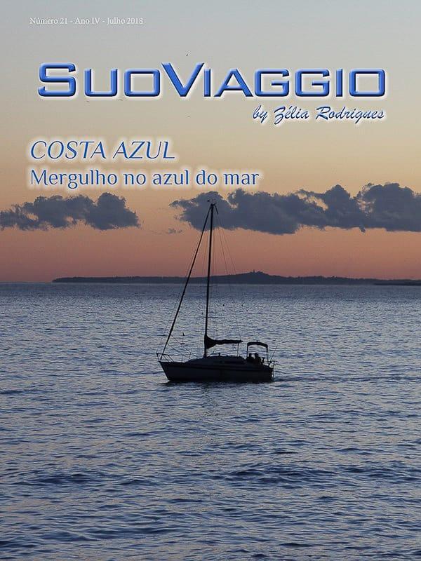 COSTA AZUL Mergulho no azul do mar