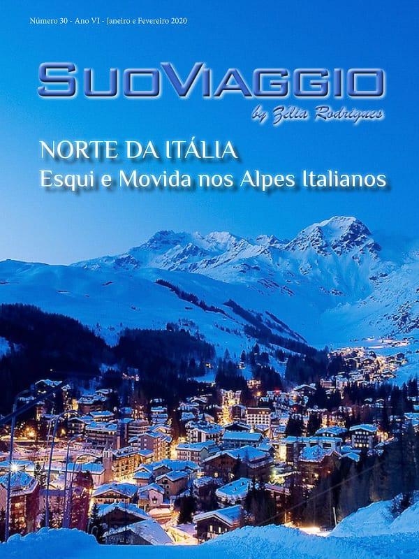 imagem da capa da revista SuoViaggio edição norte da Itália
