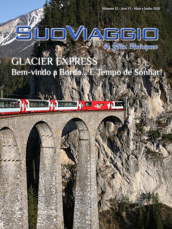 imagem da capa da revista digital SuoViaggio edição glacier express